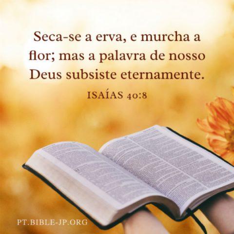 mensagem da bíblia Isaías 40:8