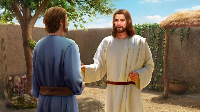 Senhor Jesus e Pedro