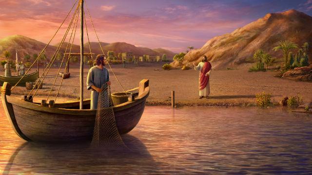 Jesus chama os primeiros discípulos