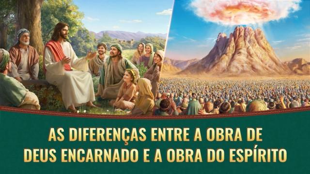 Quais são as diferenças entre a obra de Deus encarnado e a obra do Espírito?