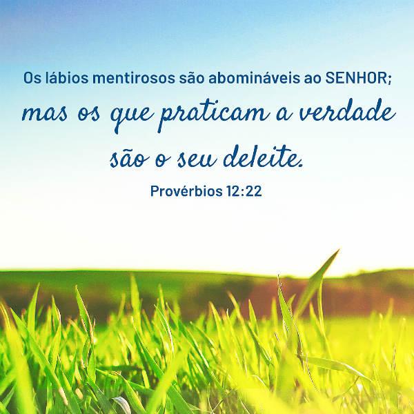 provérbios 12 22