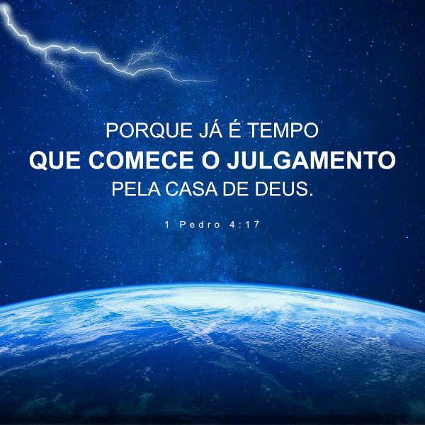 (1 Pedro 4:17) O Juízo Começa Pela Casa de Deus - Versiculo do dia