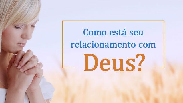 Por acreditar em Deus, você deve pelo menos resolver a questão de ter um relacionamento normal com Ele.