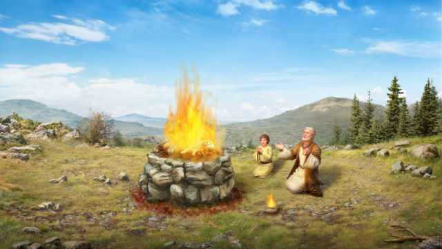 Abraão oferece Isaque
