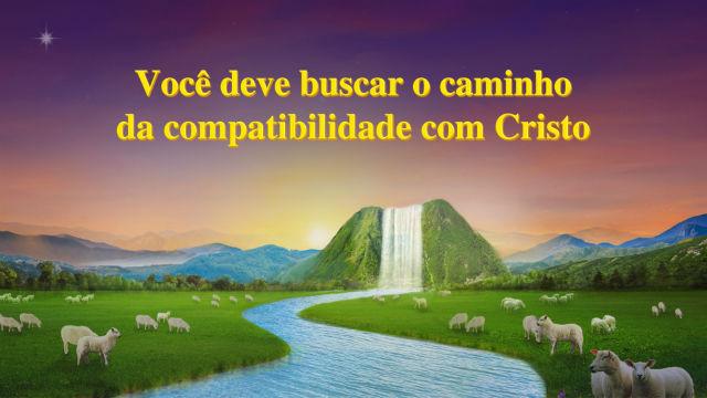 Você deve buscar o caminho da compatibilidade com Cristo