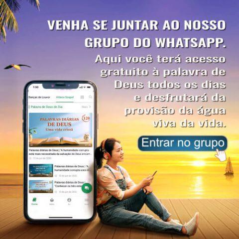 Venha se juntar ao nosso grupo do WhatsApp
